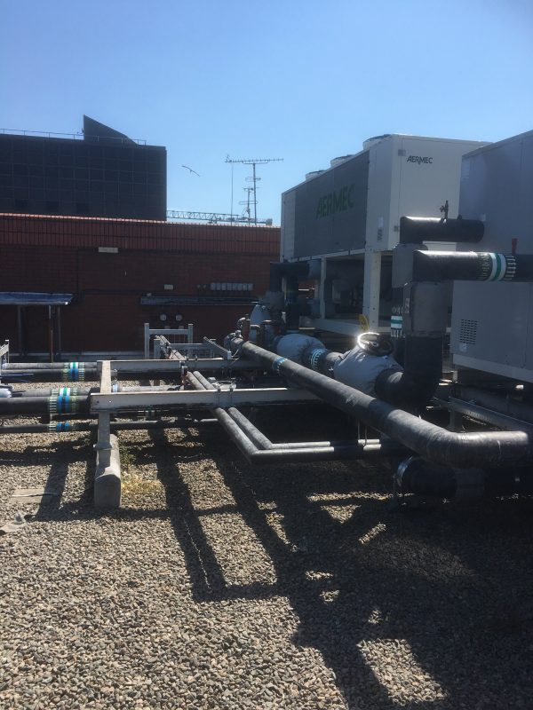 Recent Installation of Pipework at Chillers