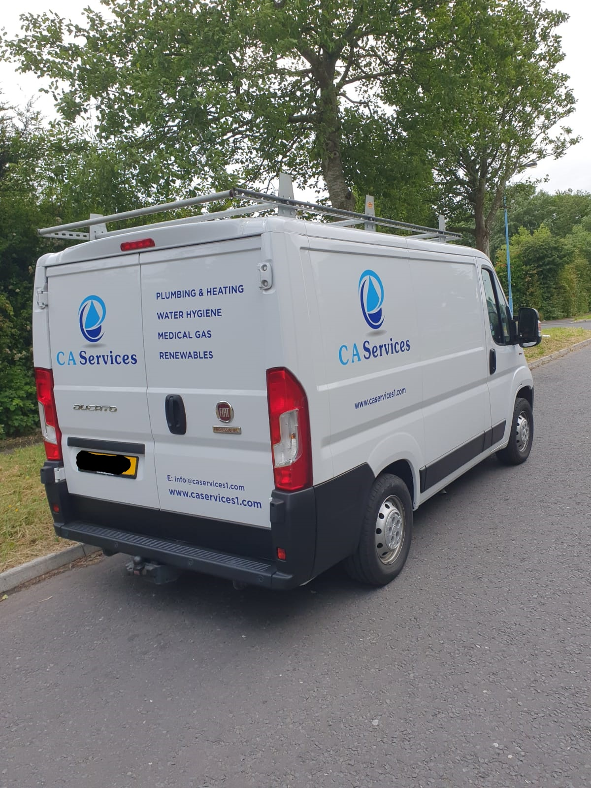 C A Services Fleet branding